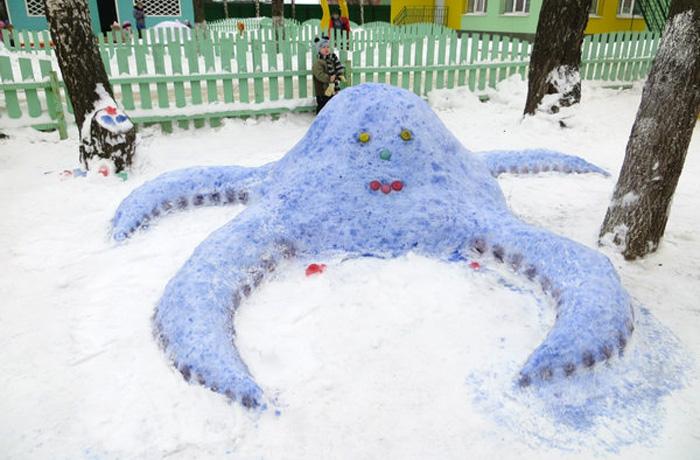 12 работ вологжан участвуют во всероссийском конкурсе снеговиков