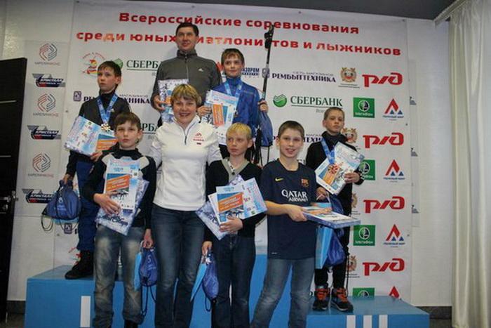 Десятилетние биатлонисты из Вологодской области выиграли эстафету на Кубке Анны Богалий