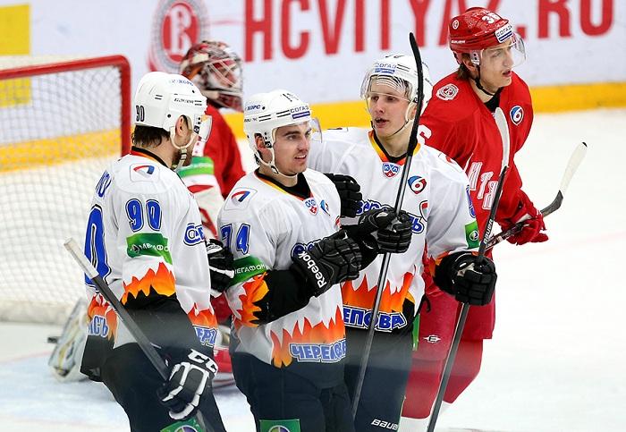 Хоккейная «Северсталь» начала борьбу за «Кубок Надежды» победой над «Витязем»