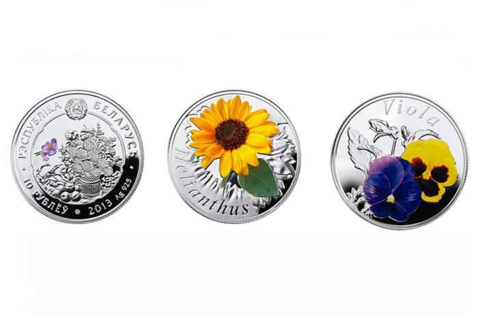 Северный банк предлагает драгоценные монеты с изображением цветов