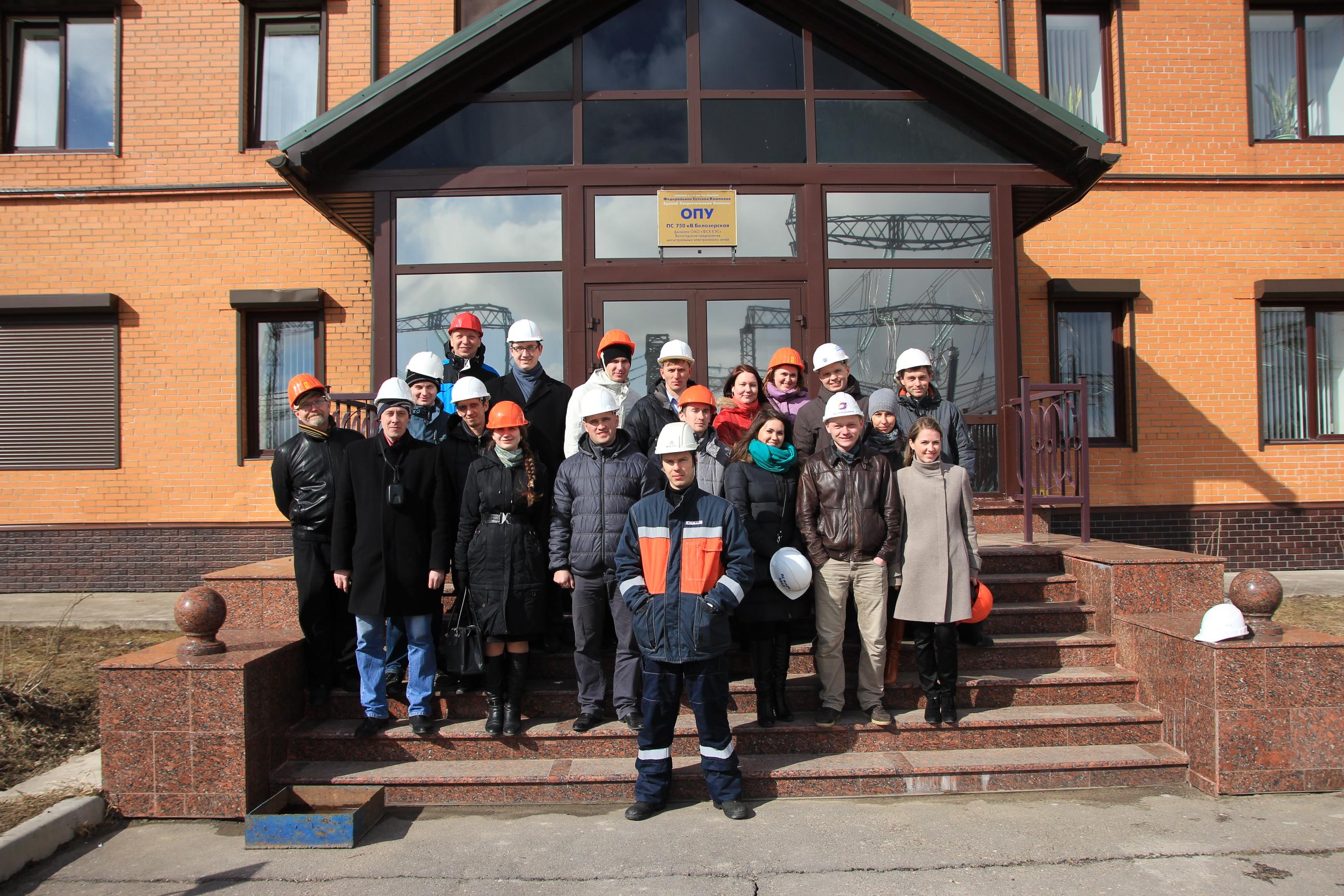 Молодежный актив «Вологдаэнерго» посетил с экскурсией подстанцию 750 кВ «Белозерская»