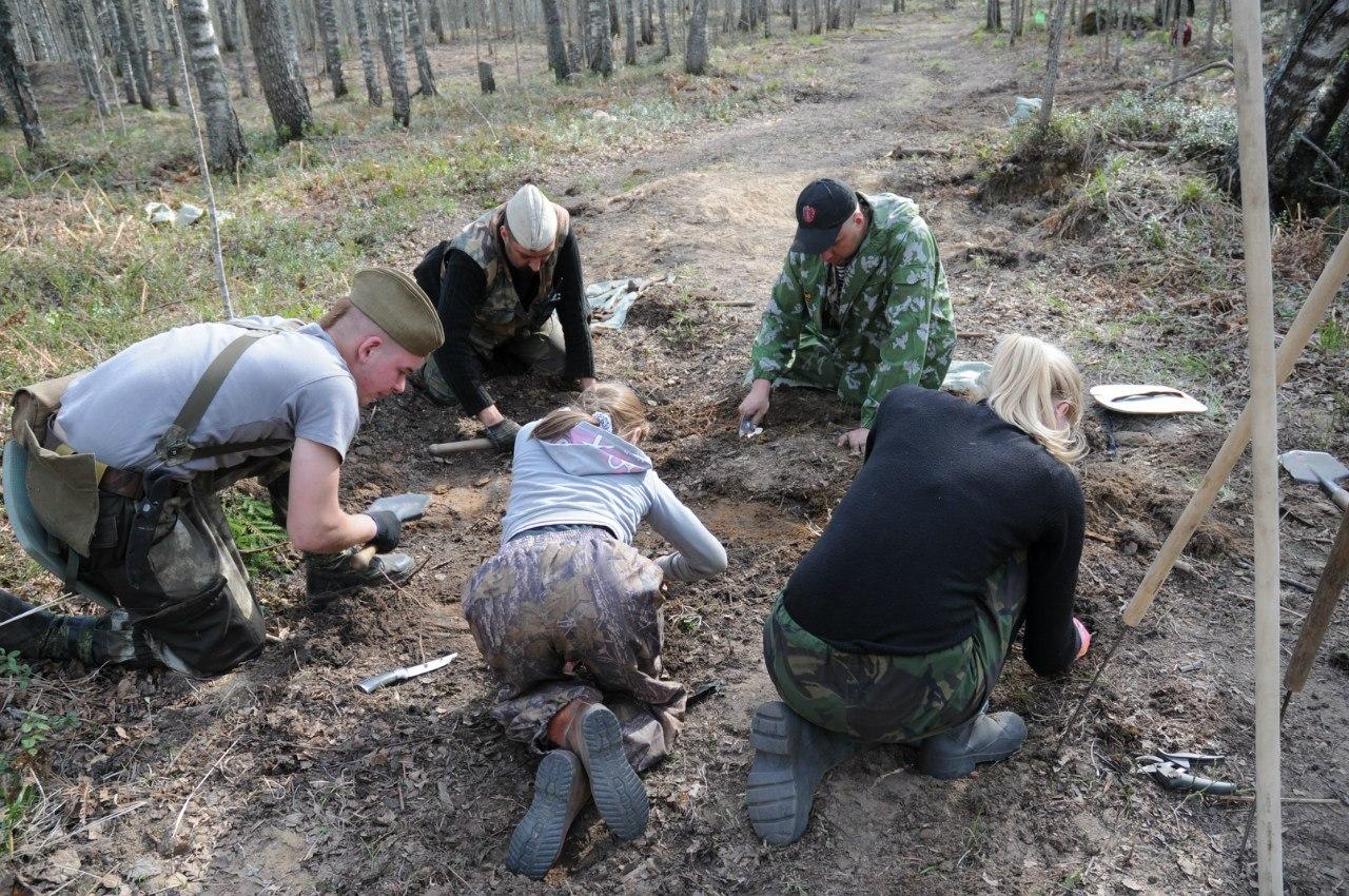 Вологодские поисковики подняли 51 бойца Красной армии в Ленобласти