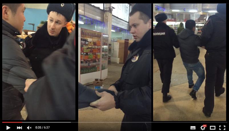 В интернете появилось видео, как на рынке Череповца полицейские грубо задержали покупателя