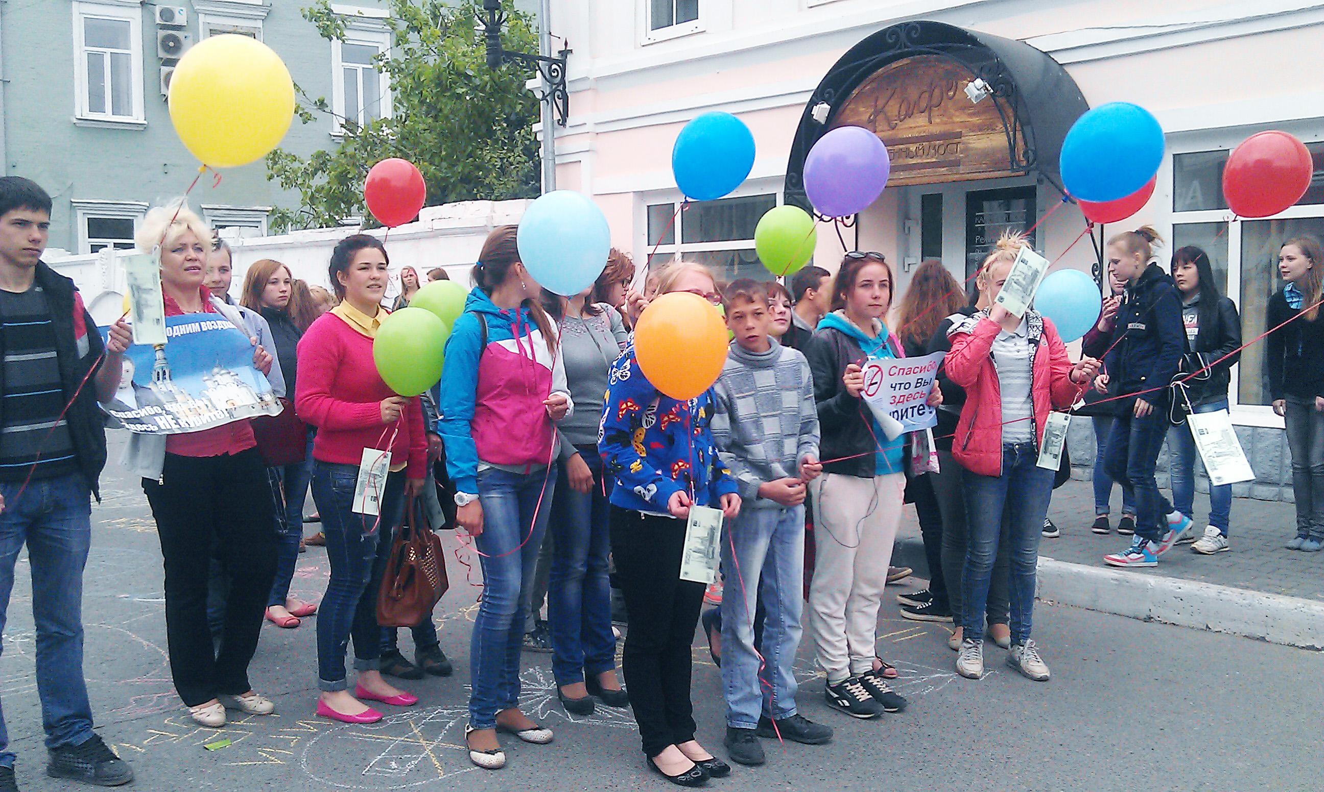 Акция «Сигареты – деньги на ветер» прошла в Вологде