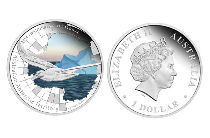 В Северный банк поступили монеты с изображением альбатроса