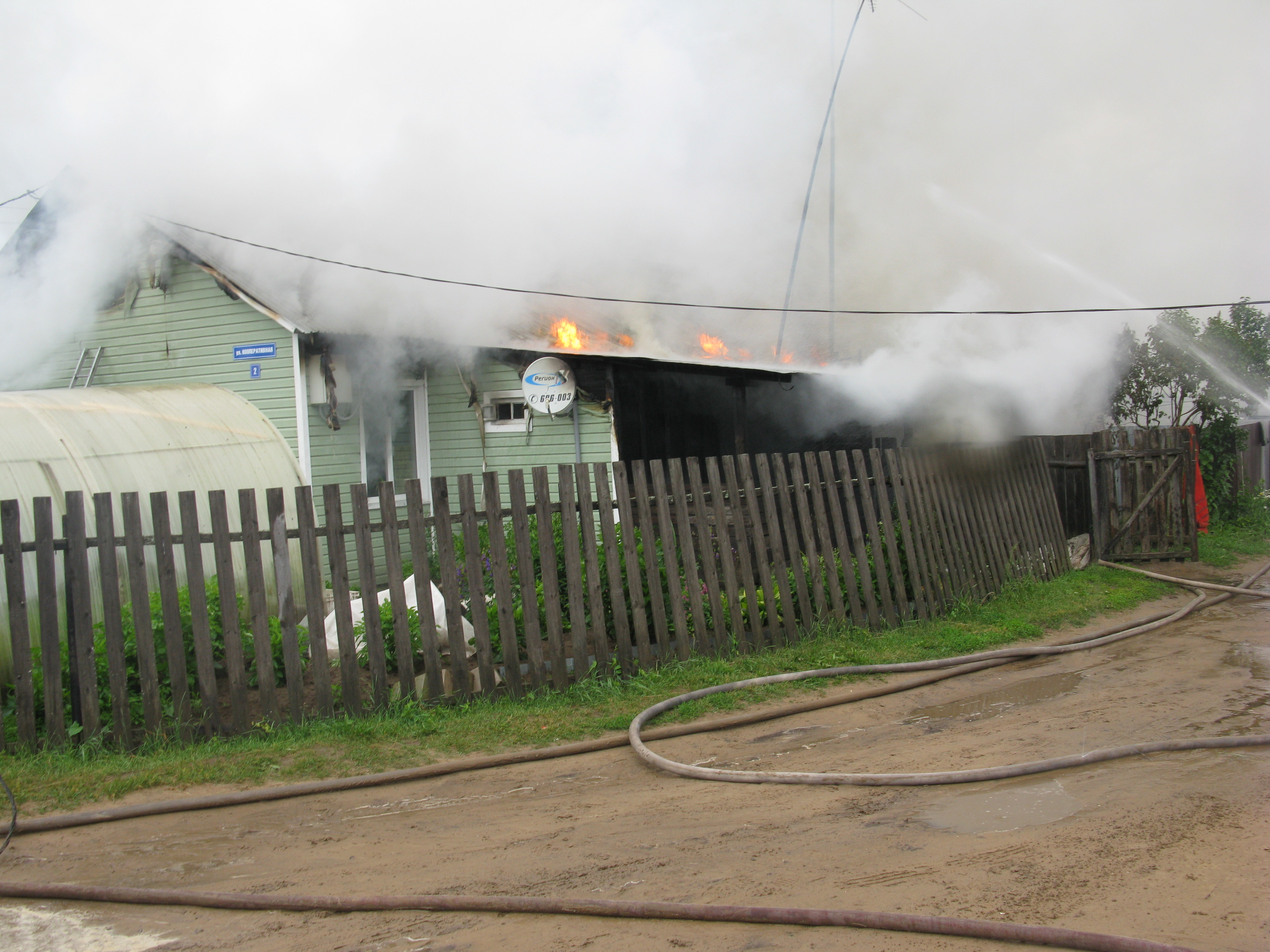 В Вологодской области 4-летний ребенок играл с огнем и сжег дом