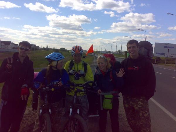 Встреча с велотуристами, следующими по маршруту Северодвинск -Вологда -Москва-Тула