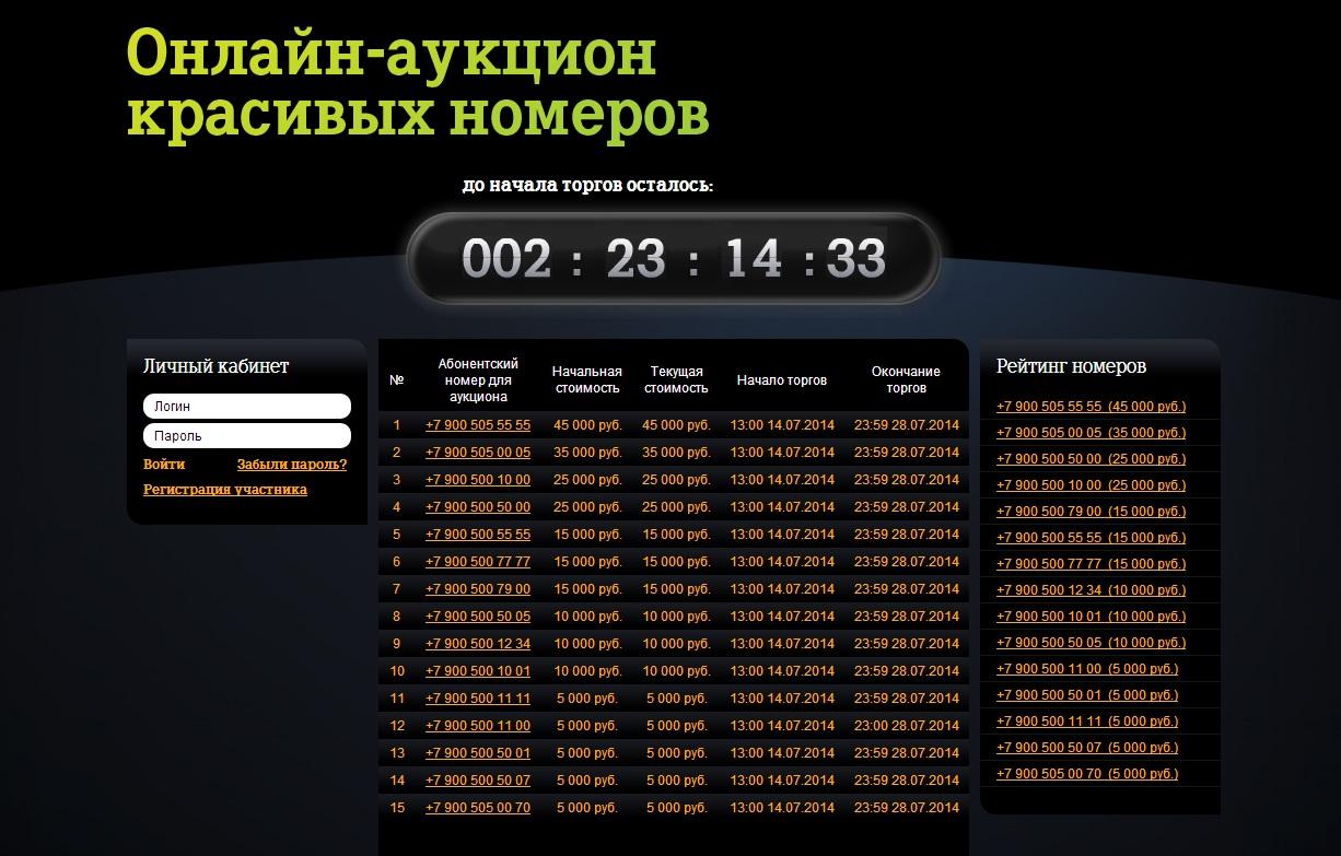 Tele2 Вологда открывает интернет-аукцион по продаже премиальных номеров