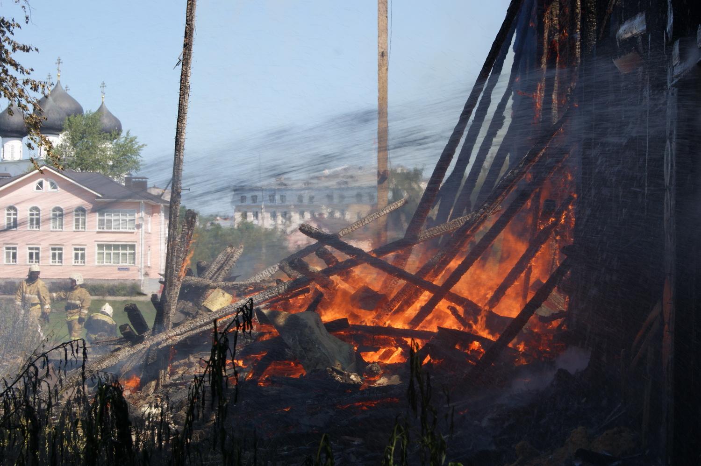 Пожар в Доме со штурвалами в Вологде: найдено три очага возгорания