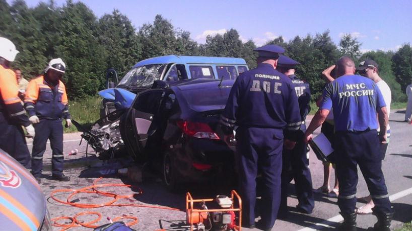 Водитель Hyundai Solaris скончался в больнице после ДТП под Череповцом