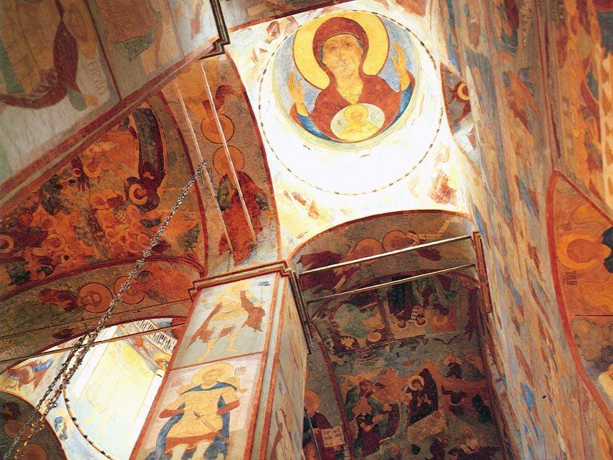 Фрески Софийского собора Вологды можно будет разглядеть в интернете