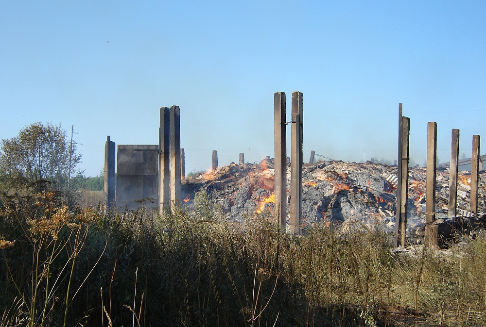В Вологодском районе дети сожгли 345 тонн заготовленного сена