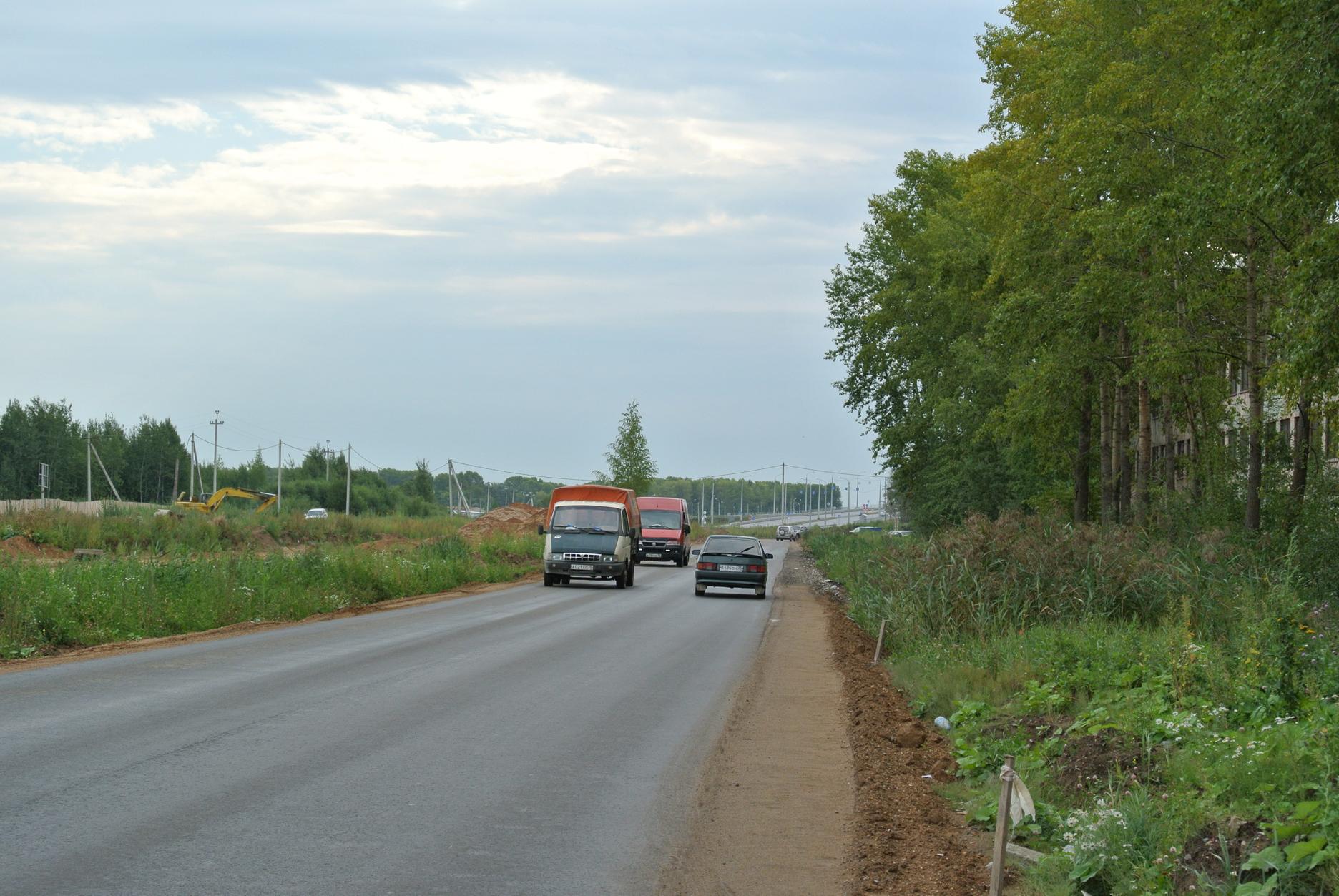 Дорогу-дублёр возле виадука в Вологде заасфальтируют полностью