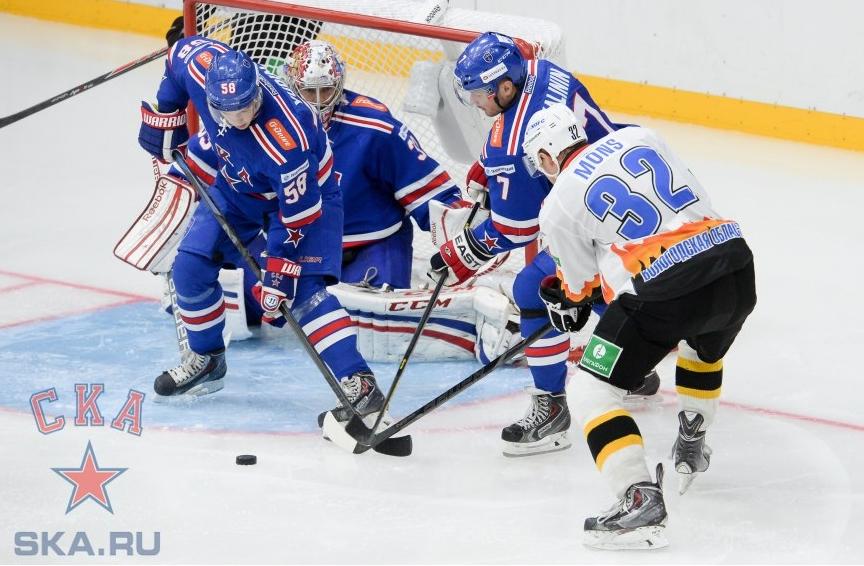 Хоккейный клуб «Северсталь» переиграл в гостях питерский «СКА»