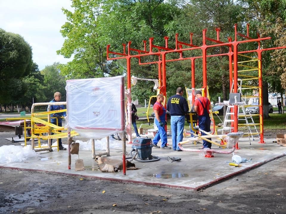 Уличный фитнесс-клуб появился в Вологде