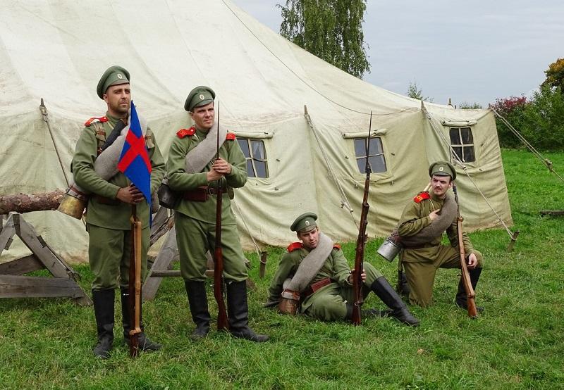 В Вологодской области впервые прошла реконструкция событий Первой мировой войны