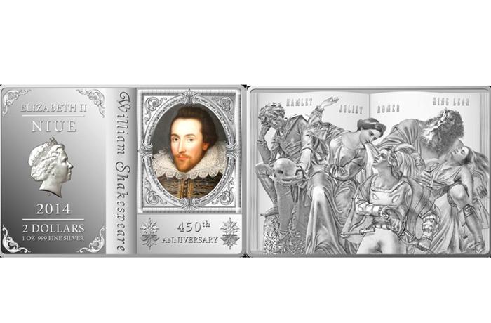 В Северный банк поступили монеты, посвященные Уильяму Шекспиру