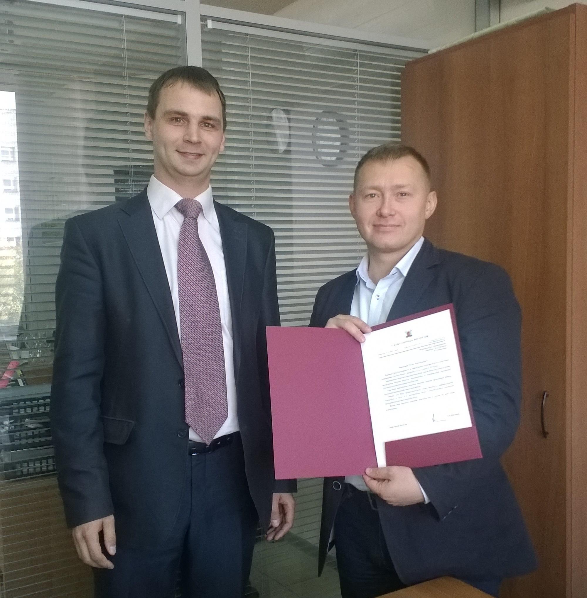 Глава Вологды Евгений Шулепов поблагодарил Tele2 за эффективное сотрудничество