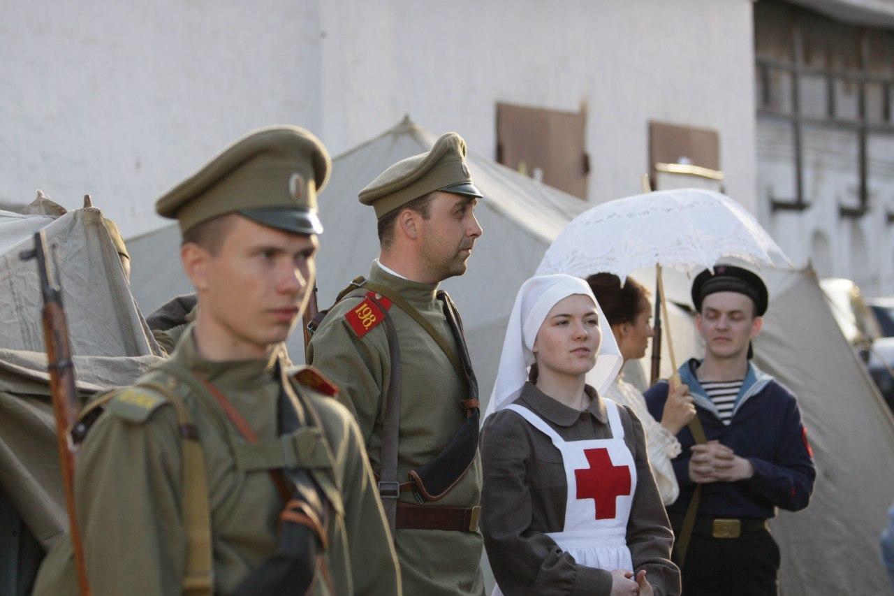 В Вологде историческую реконструкцию, посвященную Первой мировой, перенесли на воскресенье