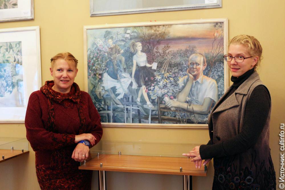 Племянница Рубцова и ее дочь представили свои картины в Вологде