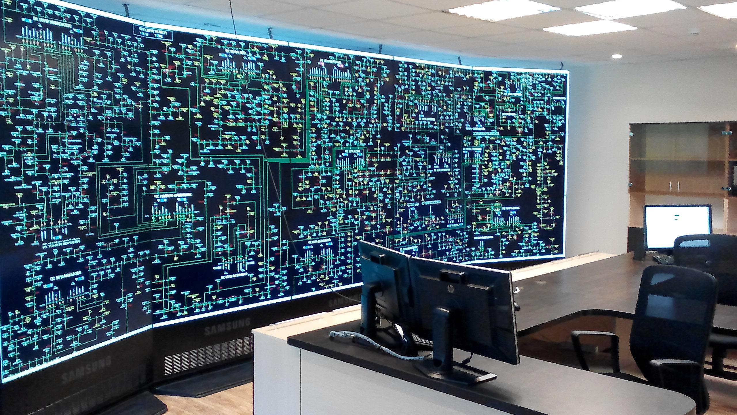 Филиал  «Вологдаэнерго» установил на диспетчерском щите Вологодского РЭС современную видеостену