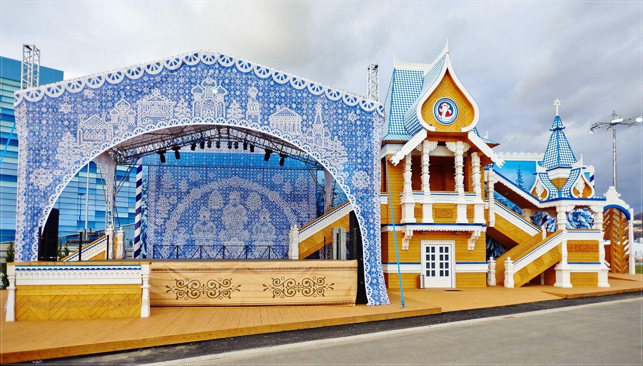 Олимпийская резиденция Деда Мороза, которую должны были установить в Вологде летом, так и не доехала до Парка ветеранов