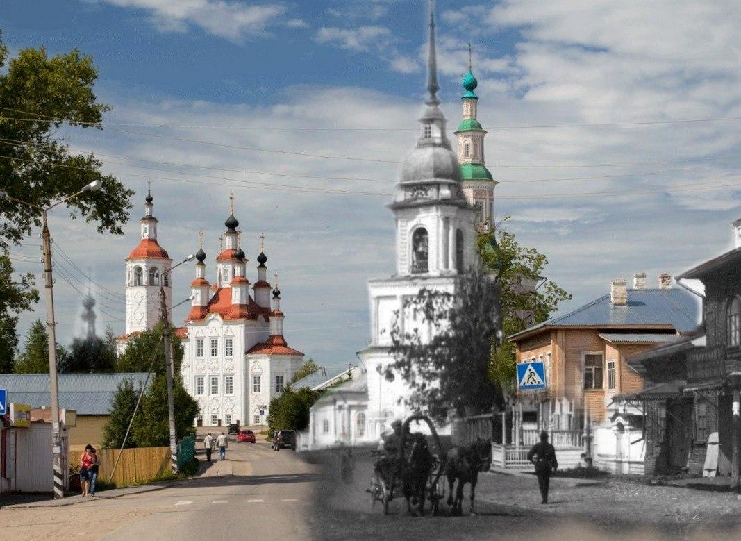 На улицах Тотьмы визуализировали утраченные памятники