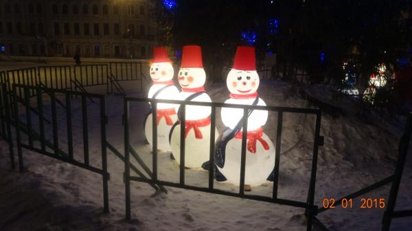 Новогодняя Вологда, 2 января 2015, раннее утро