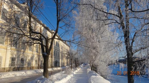 Красивая морозная и снежная Вологда