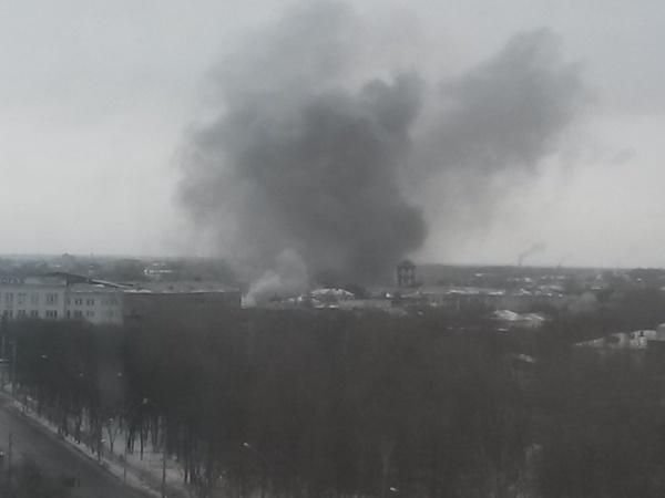 Пожар в центре города