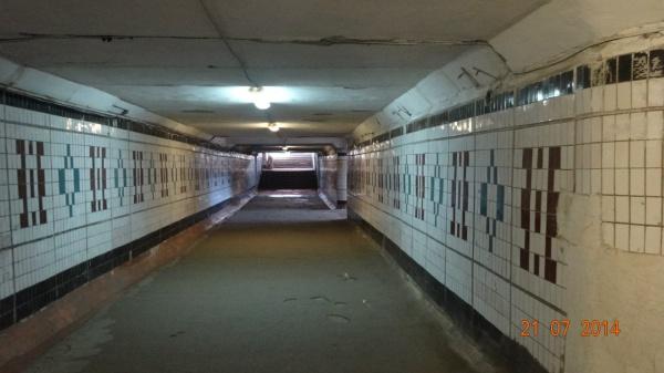 Вологда, подземный переход до ремонта и после: февраль 2015