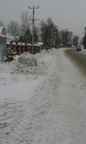 Опять про уборку снега зимой