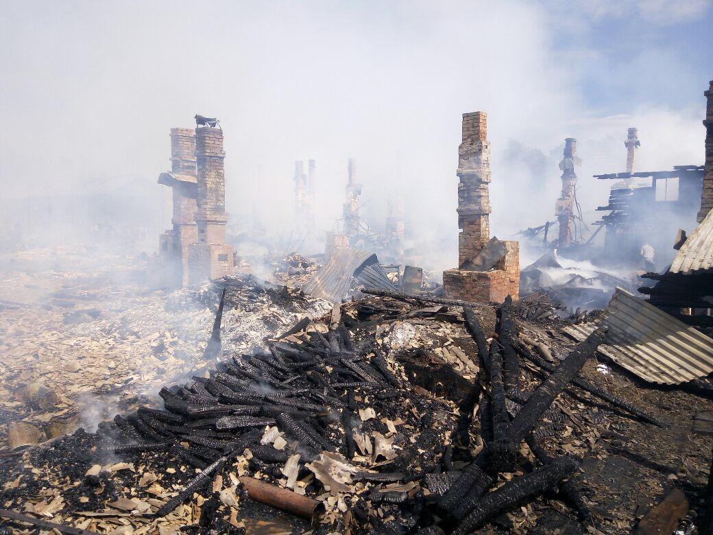 В Никольске сгорели три жилых многоквартирных дома