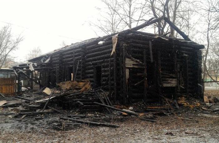 В Вологде сгорел дом середины XIX века