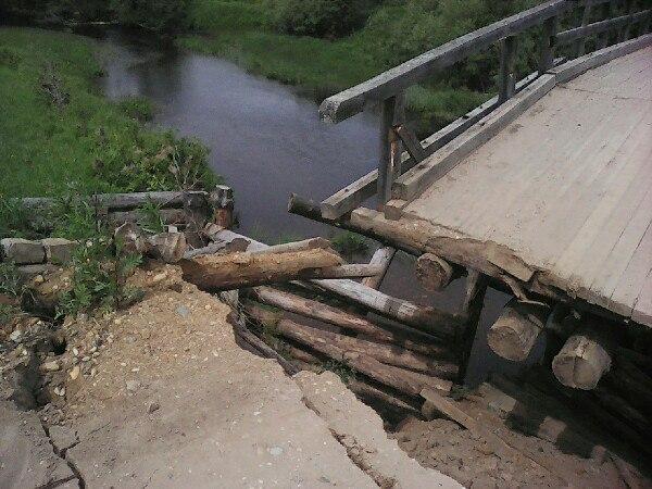 На ремонт моста к вологодской Баранихе потратили миллион рублей