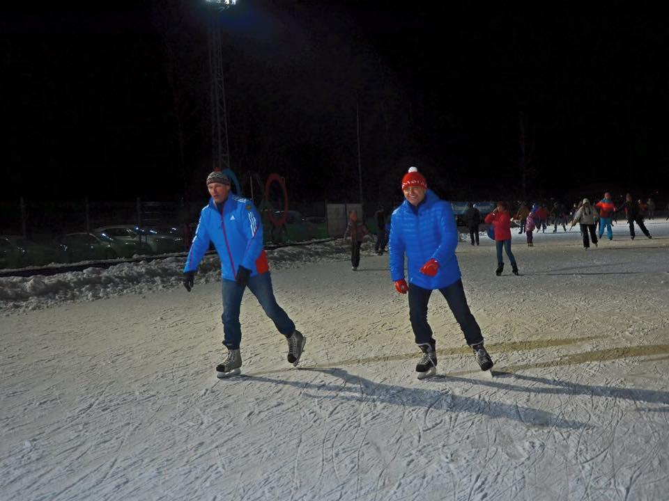 Главе Вологды пожаловались на работу ледовой дорожки: он поехал туда кататься