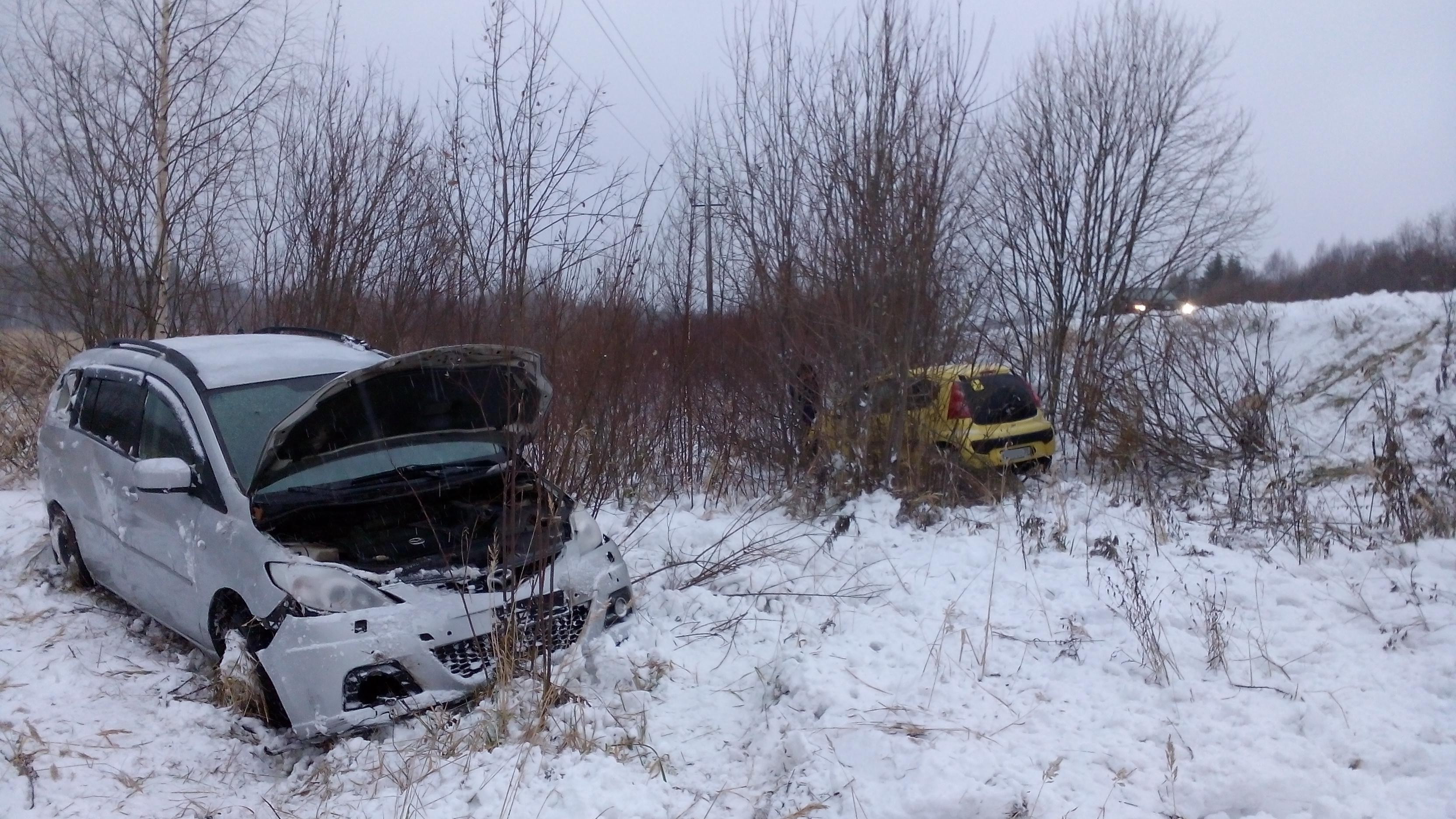 ВВологодской области женщина на Peugeot (Пежо) сбила пешехода исъехала вкювет