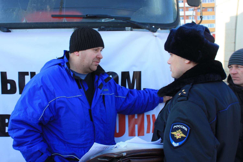 Вологодского дальнобойщика оштрафовали за участие в «антиплатоновской» акции