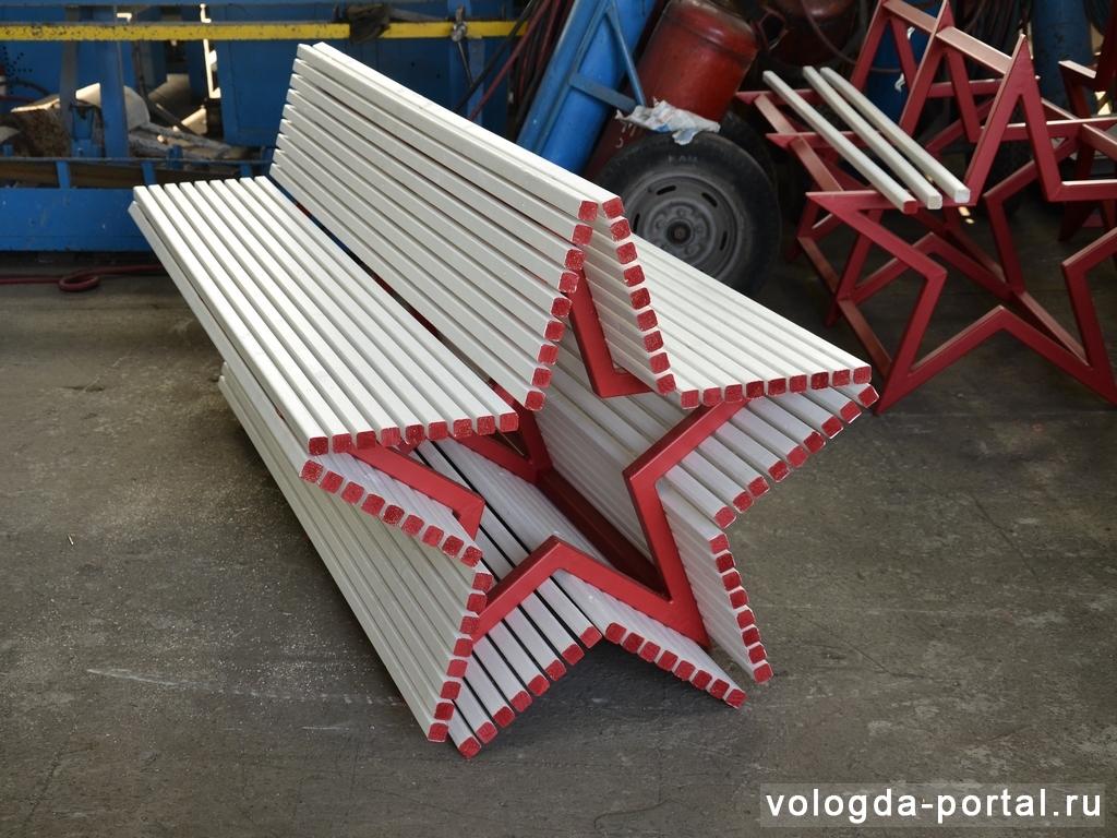 В Вологде появятся восемь скамеек в форме звезд