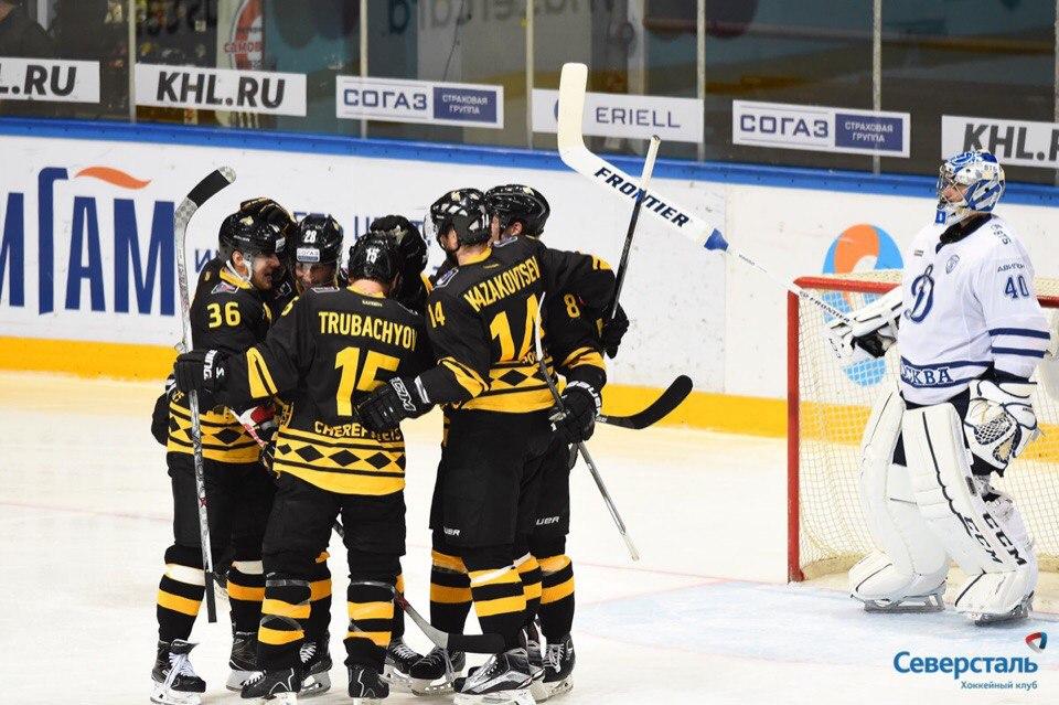 Череповецкая «Северсталь» завершила победой домашнюю серию игр