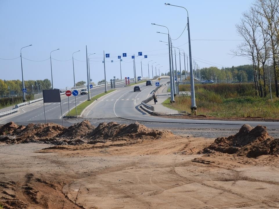В Вологде в створе Белозерского шоссе начали строить тротуары