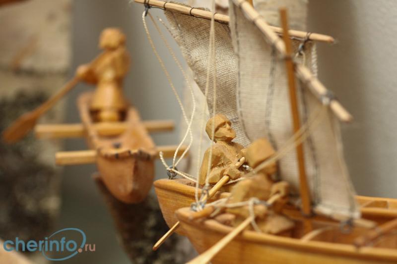 Выставка моделей старинных судов открылась в Череповце