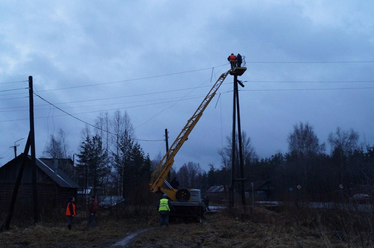 Электроснабжение в Бабаево полностью восстановлено