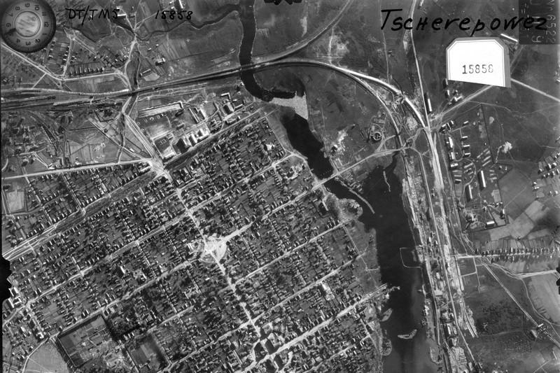 Создана карта Череповца военных лет на основе снимков немецкой разведки