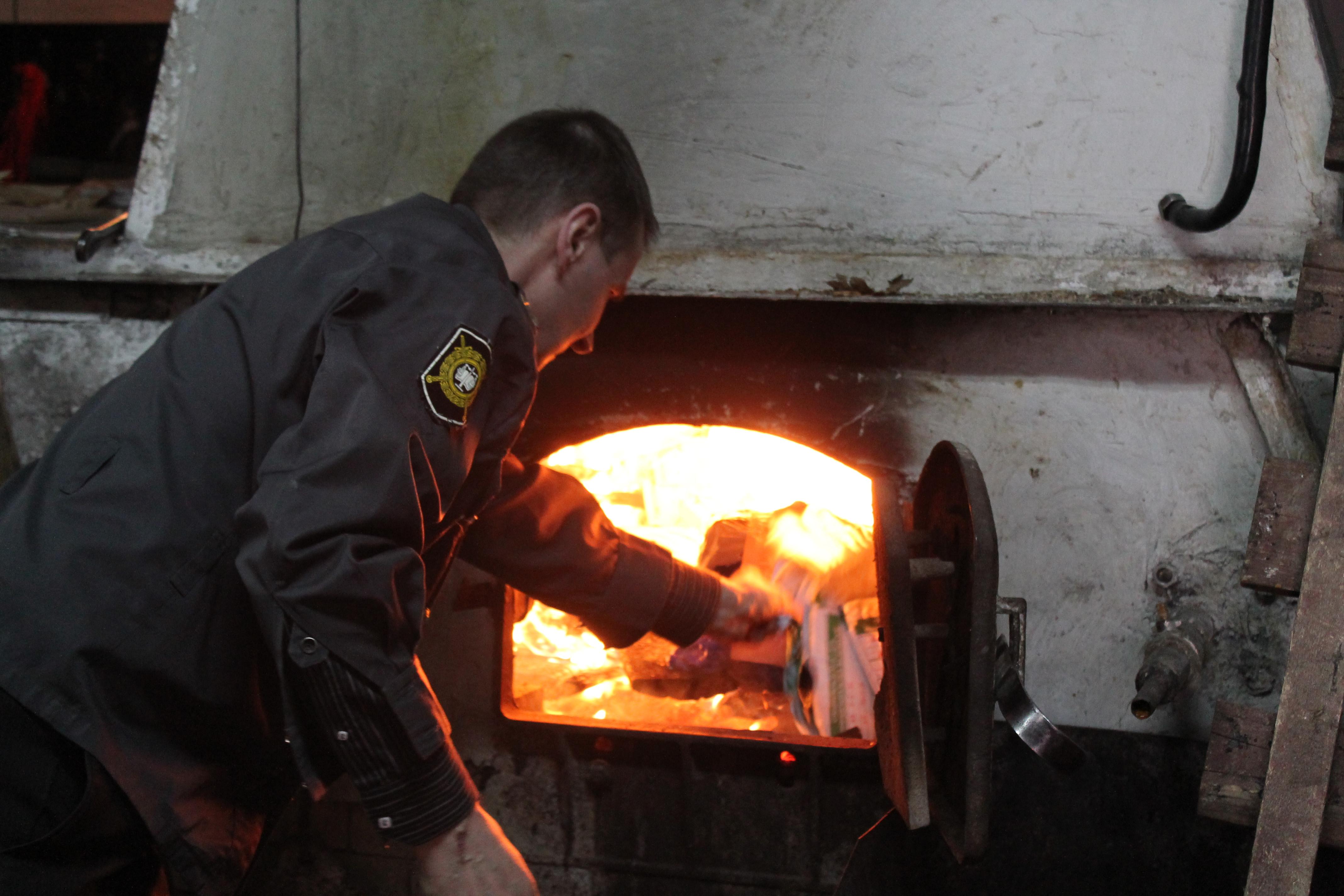 Более 77 килограммов наркотиков сожгли в череповецкой котельной