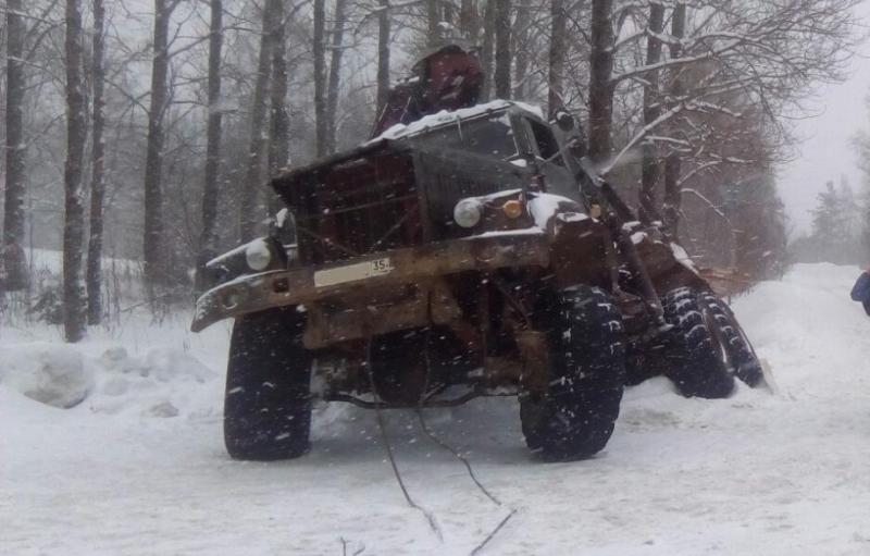 ВВытегорском районе нетрезвый местный гражданин попытался угнать лесовоз
