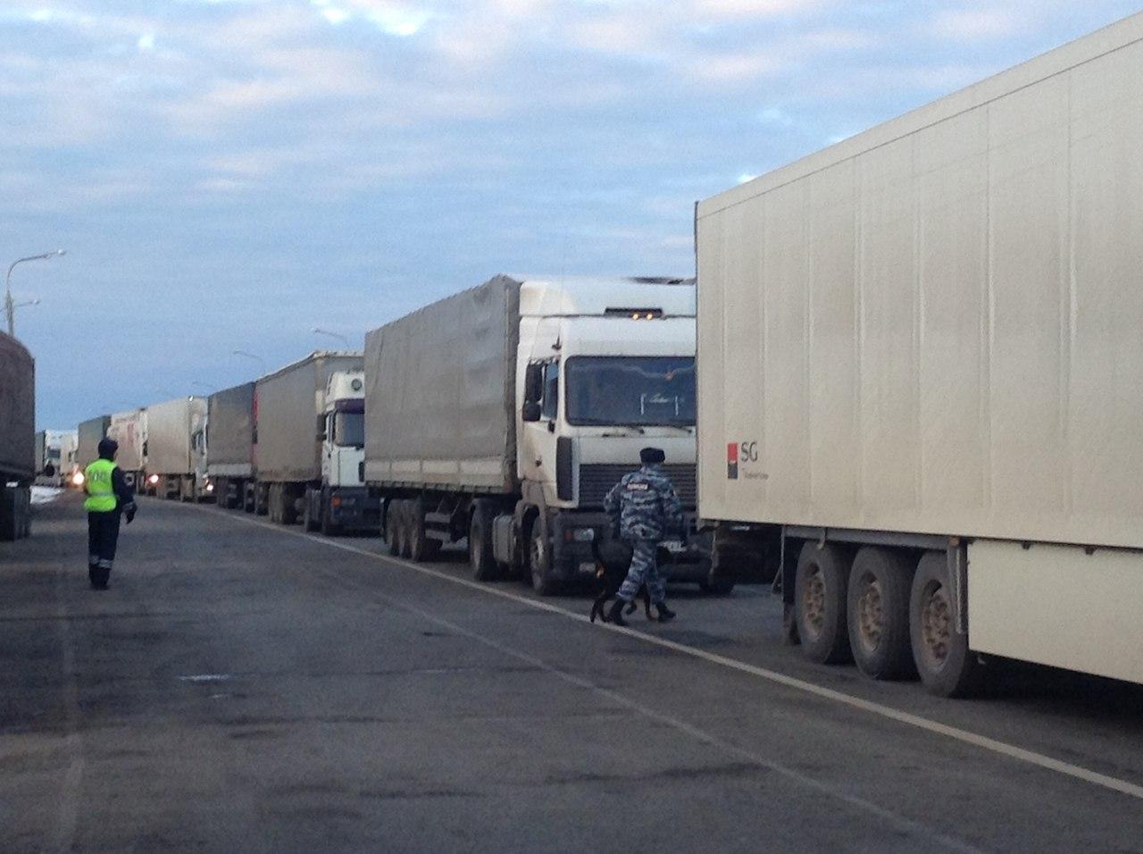 Вологодские дальнобойщики поехали на Москву