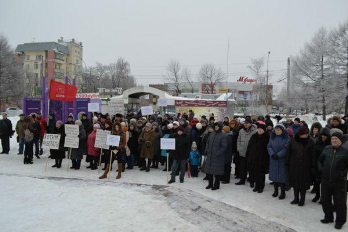 Работники «Вологодского текстиля» вышли на митинг