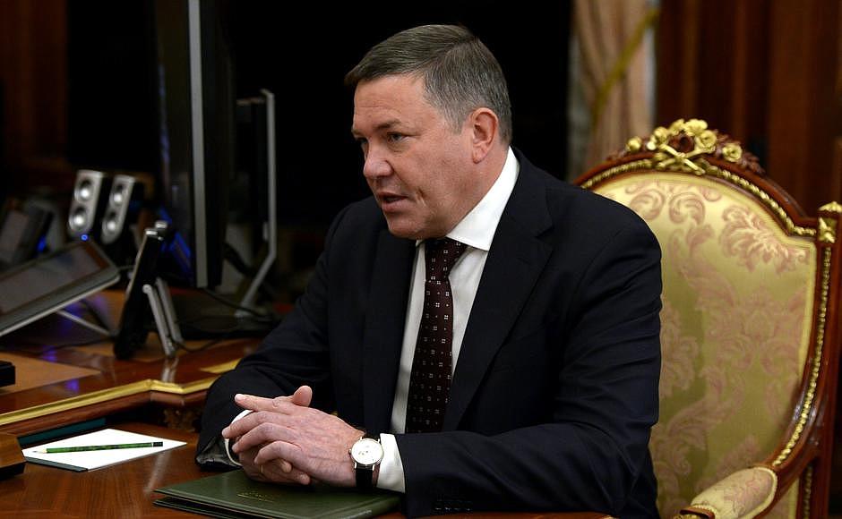 Олег Кувшинников рассказал президенту о строительстве целлюлозного завода в Череповецком районе