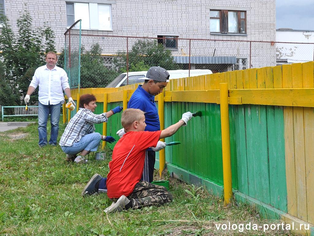В  проекте «Яркий двор» участвуют более 300 вологжан